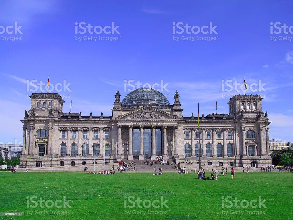 Deutscher Reichstag Berlin / German Parliament (near) stock photo
