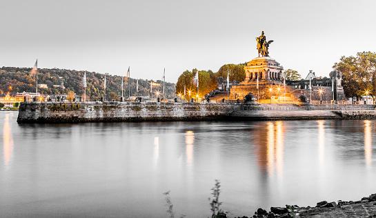 Deutsches Eck in Koblenz Rhineland-Palatinate Germany