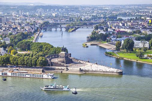 Deutsches Eck - monument in Koblenz