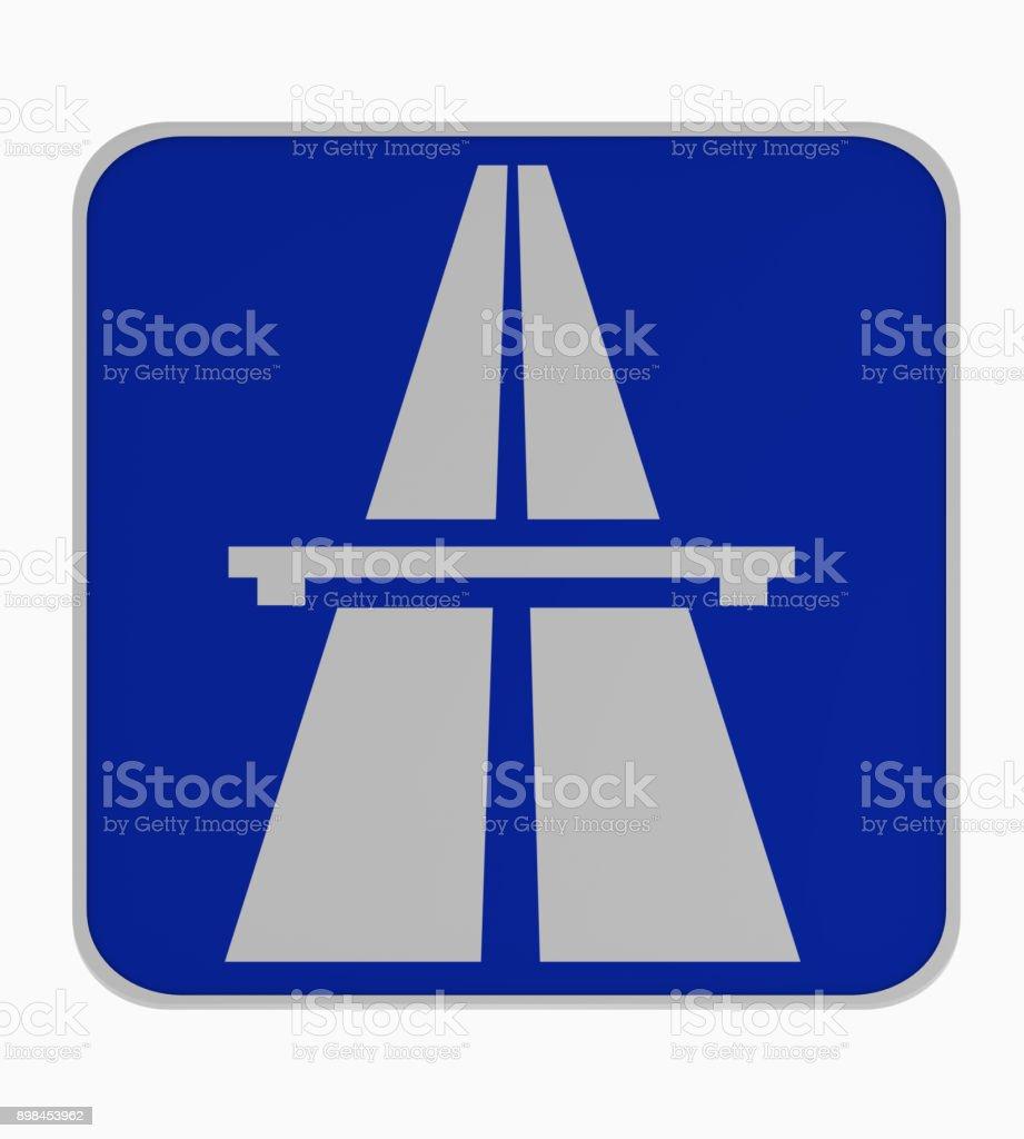 Deutsches Verkehrszeichen: Beginn Autobahn. – Foto