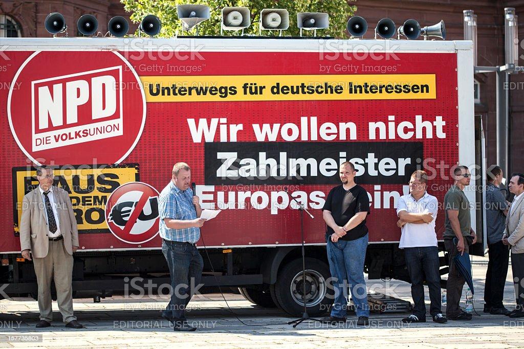 NPD Deutschlandfahrt stock photo