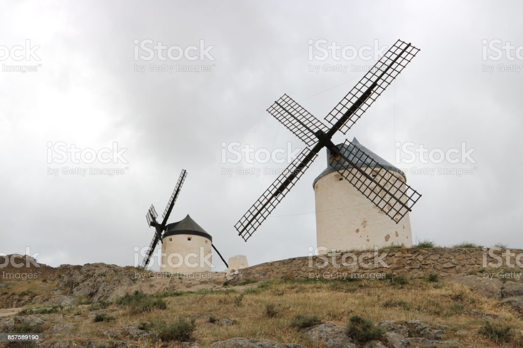 Deux moulins stock photo