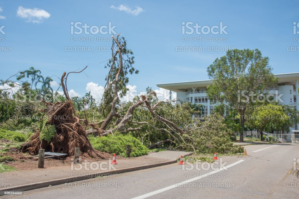 Devastation at the Parliament House stock photo