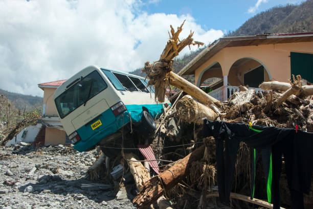 Verwüstung durch Hurrikan Maria in Dominica. – Foto