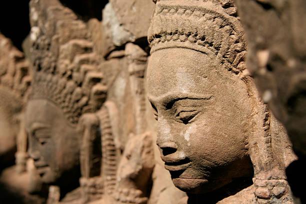Developing countries oder Apsara zahlen, Leper König Terrasse, Angkor Thom, Kambodscha. – Foto