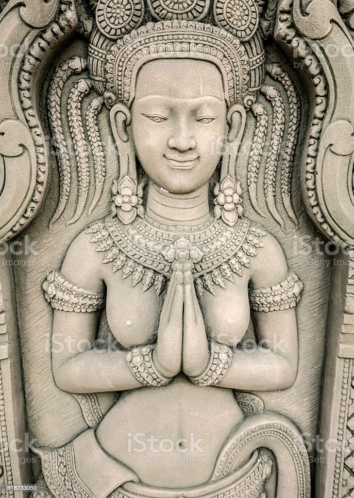 Devata statue stock photo