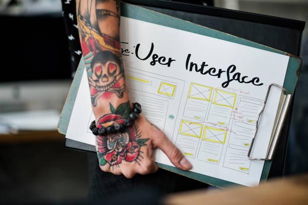 entwicklung, programmierung webdesign programmierung web template - tatto vorlagen stock-fotos und bilder