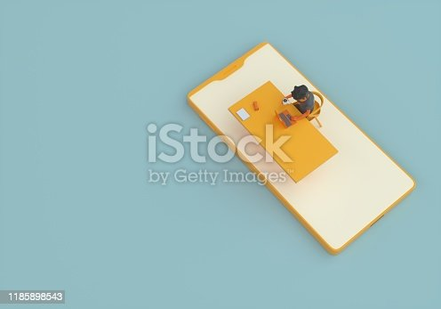 istock Developer and smart phone 1185898543