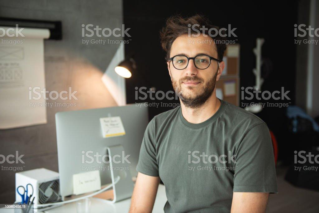 Developer in office stock photo
