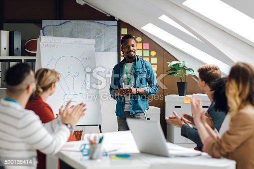 istock Developer Startup Business Presentation in Their Office. 520135414