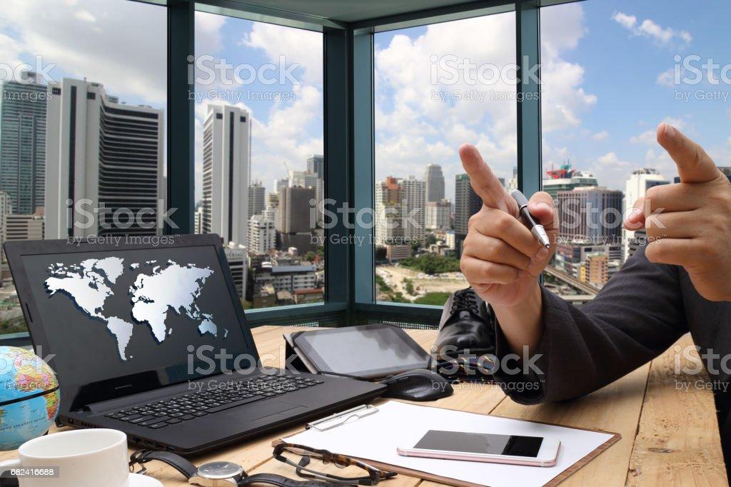 Developer working royalty-free stock photo