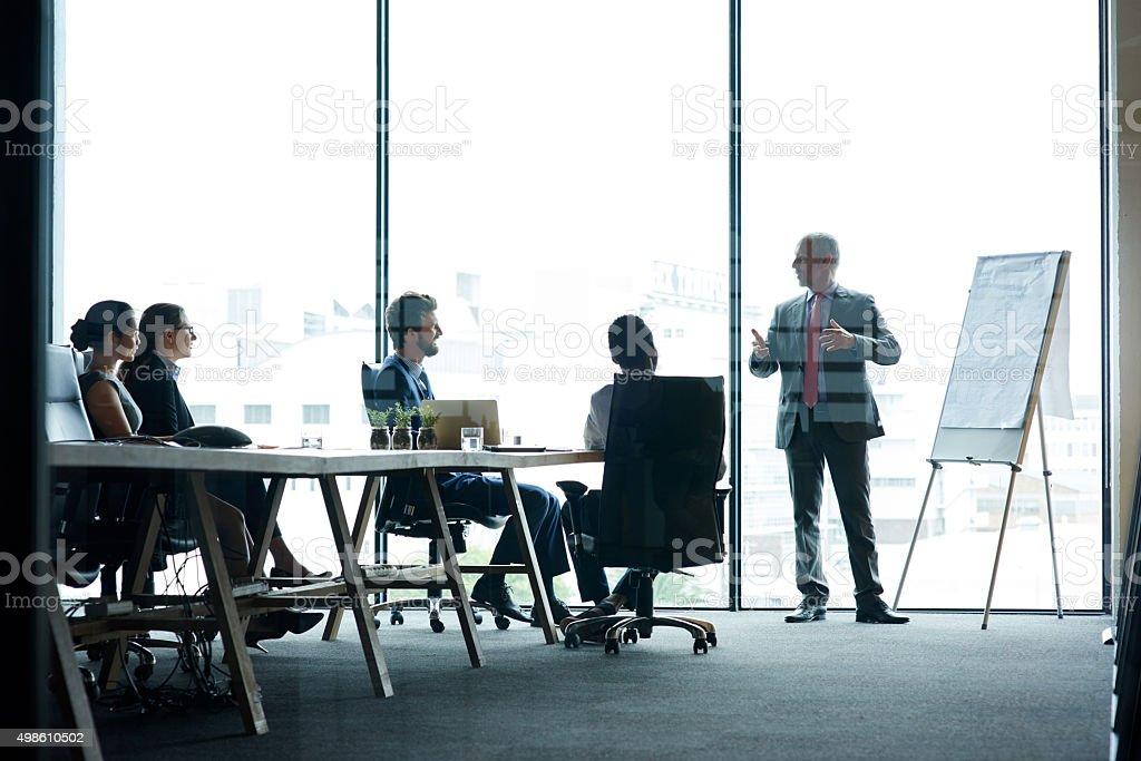 Developing corporate strategies stock photo