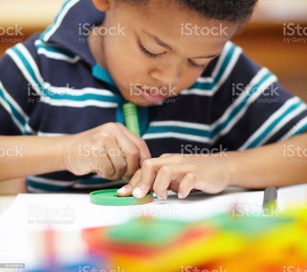 Developing his creativity royalty-free stock photo