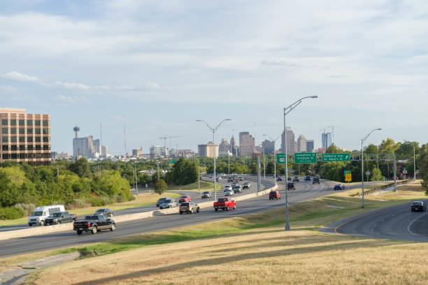 Developing New San Antonio Skyline 2018 stock photo