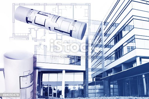istock Development and building of Real Estate,project and plan concept 498050478
