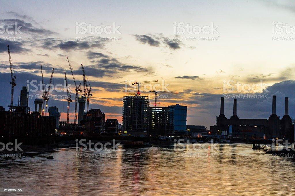 Development and Construction on the London Skyline, London, UK stock photo