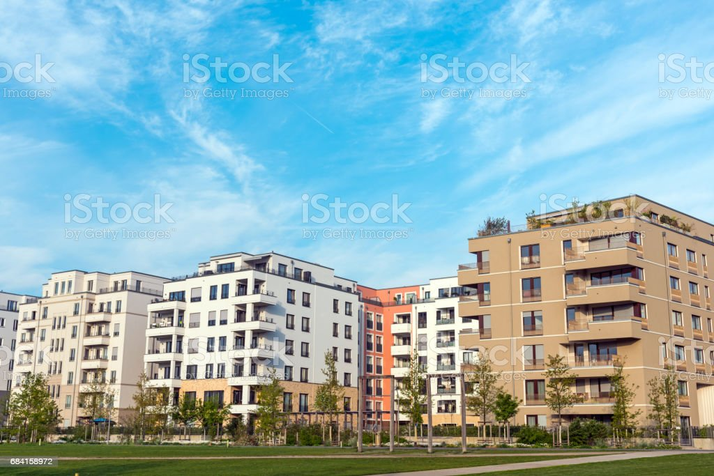 Development area with modern houses foto stock royalty-free