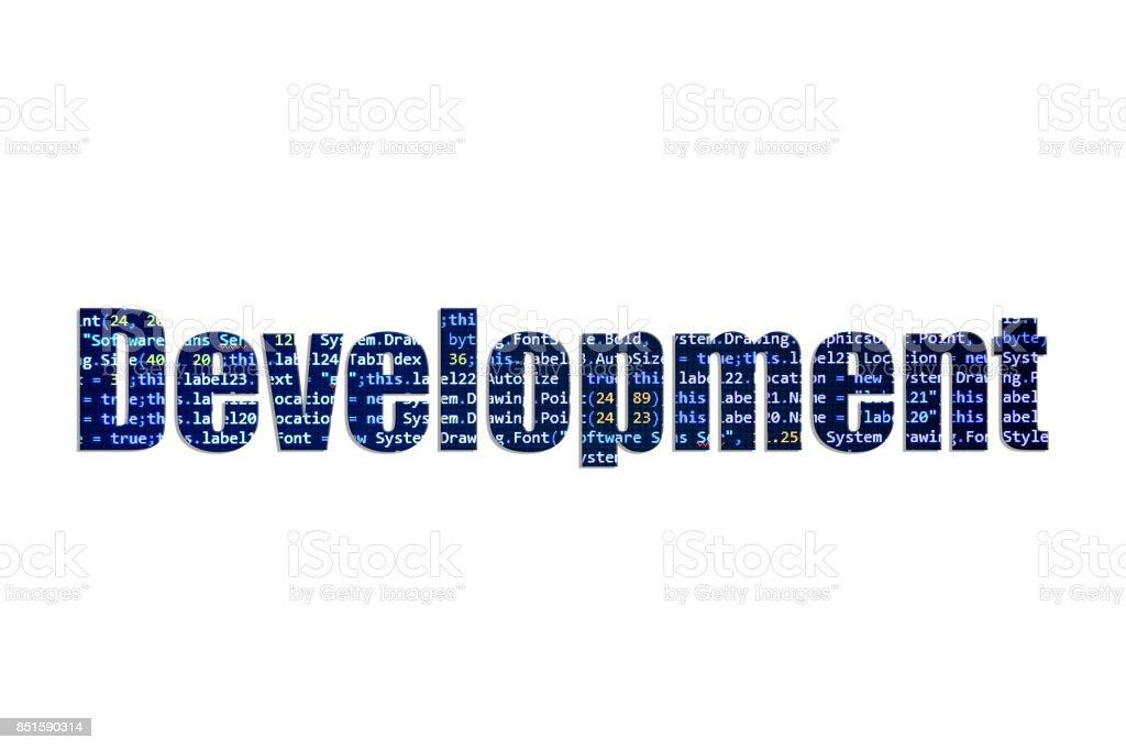 Development concept on a white background stock photo