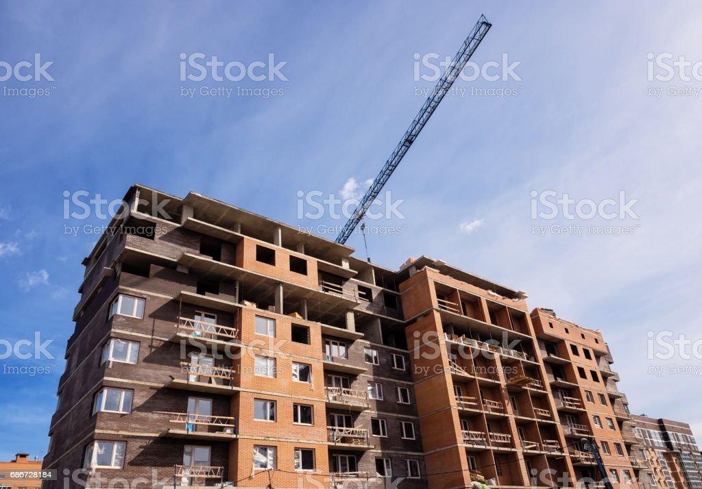 Development - Construction site, low angle view stock photo