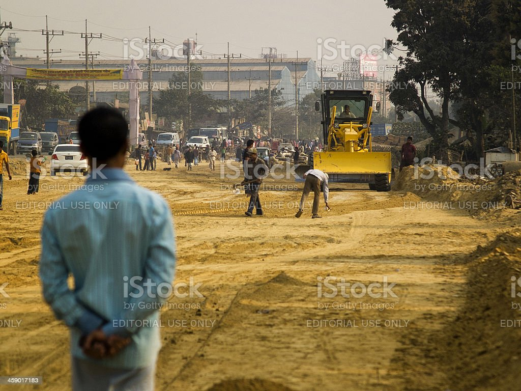 Development of infrastructure in Bangladesh royalty-free stock photo