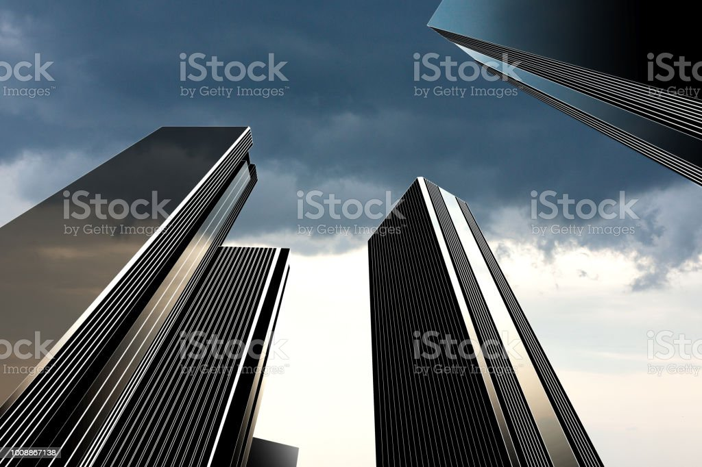 Development of office buildings and business stock photo