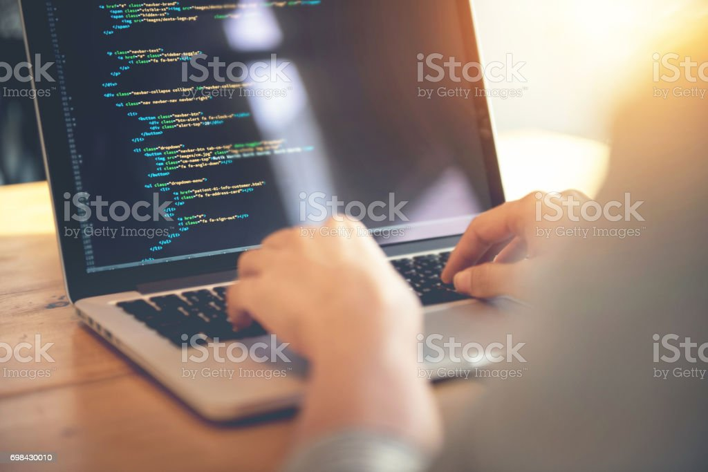 Development web, developer. stock photo