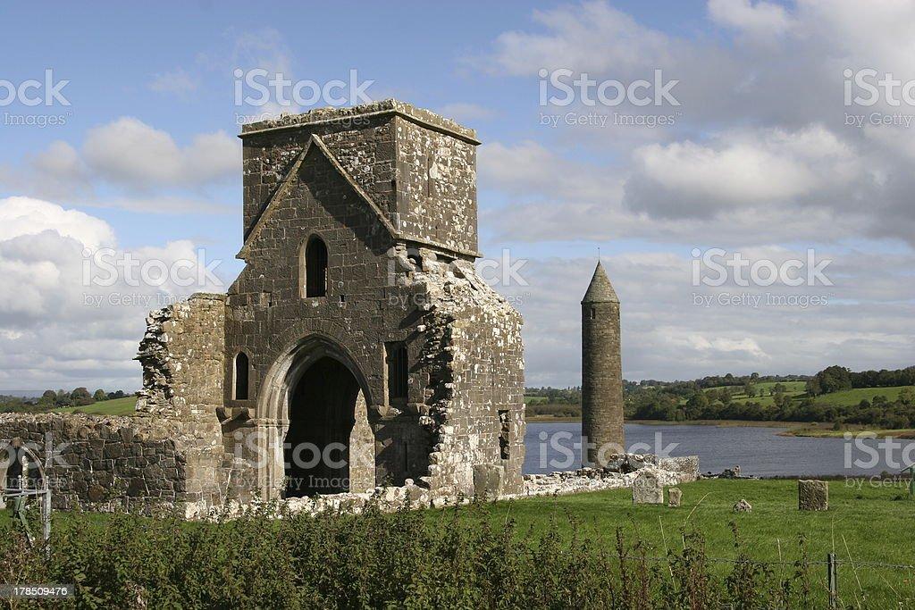 Devenish Island I, Northern Ireland stock photo