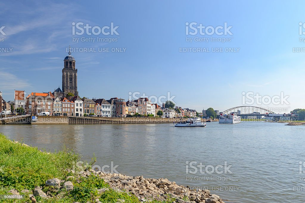 Deventer city at the river IJssel in The Netherlands​​​ foto