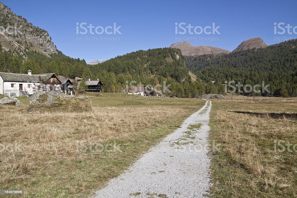 Devero Alp, Piemonte (Italy) wide panorama stock photo