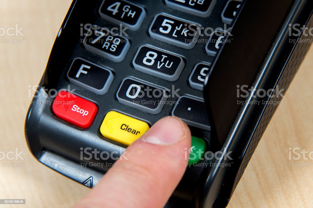 EC device for card payment stock photo