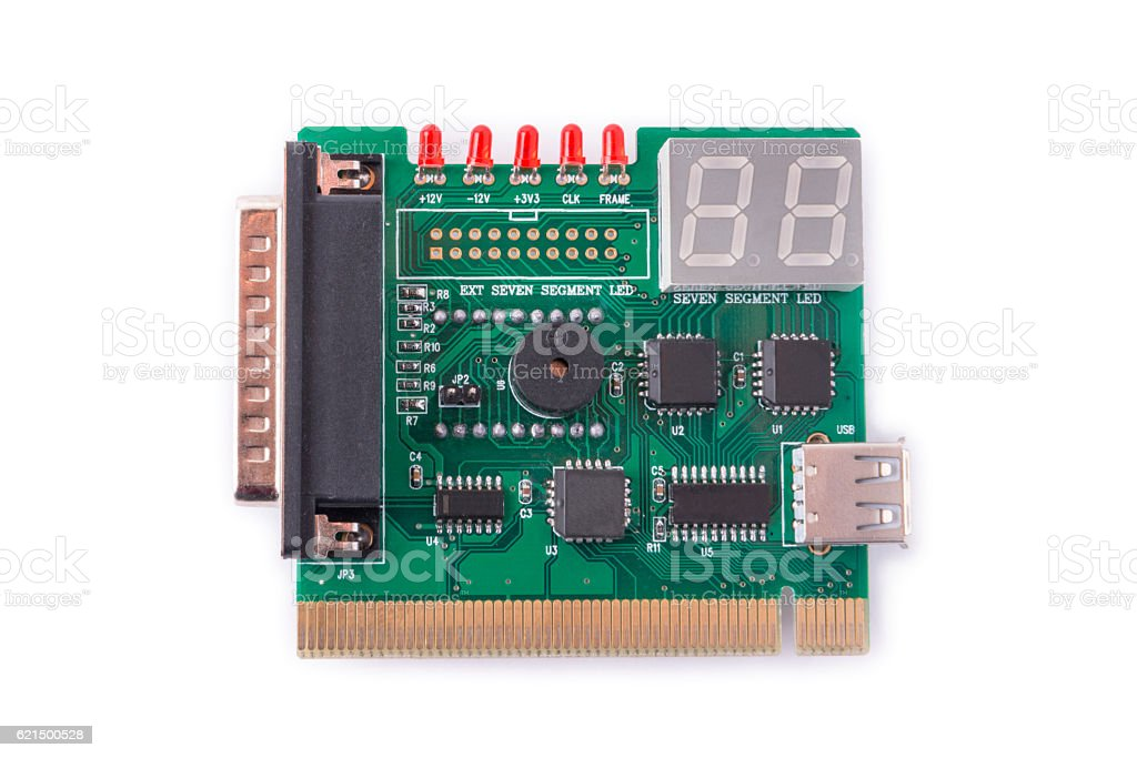 device for testing of motherboards on a white background photo libre de droits
