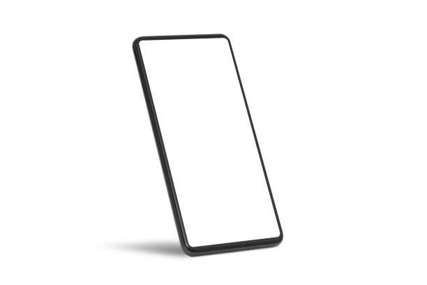 Device mockup, mobile isolated on white stock photo