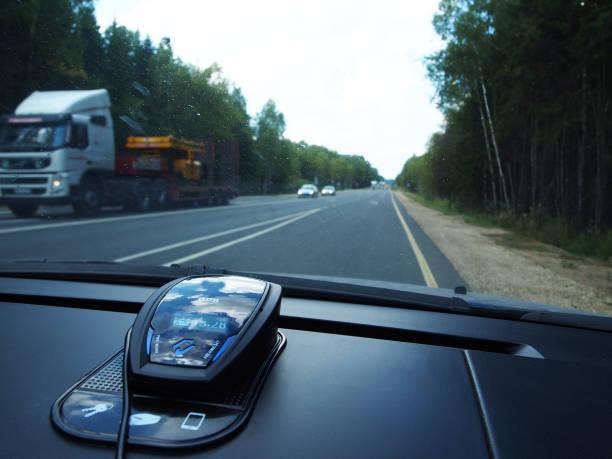 device radar detector for car . details and close-up. - radar foto e immagini stock