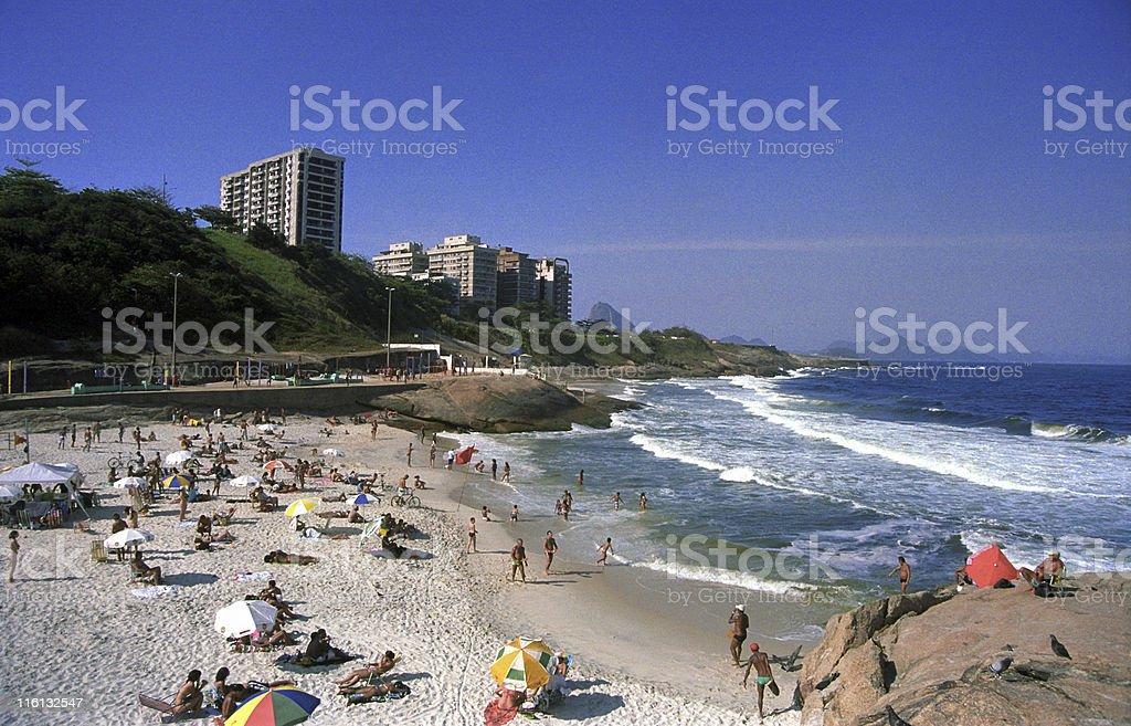 Devil Beach - Praia do Diabo in Rio de Janeiro royalty-free stock photo