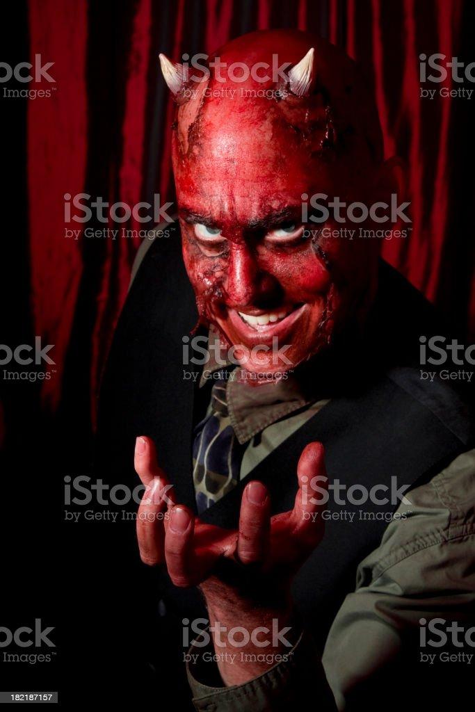 Devil Businessman stock photo