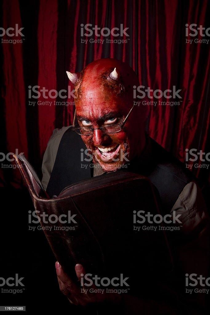 Devil Businessman Smilling royalty-free stock photo