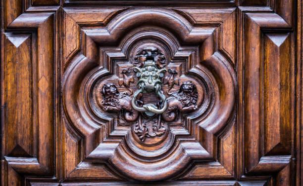 Devil Door in Turin, Italy stock photo