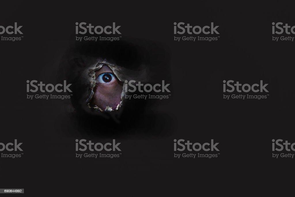 Devil eye stock photo