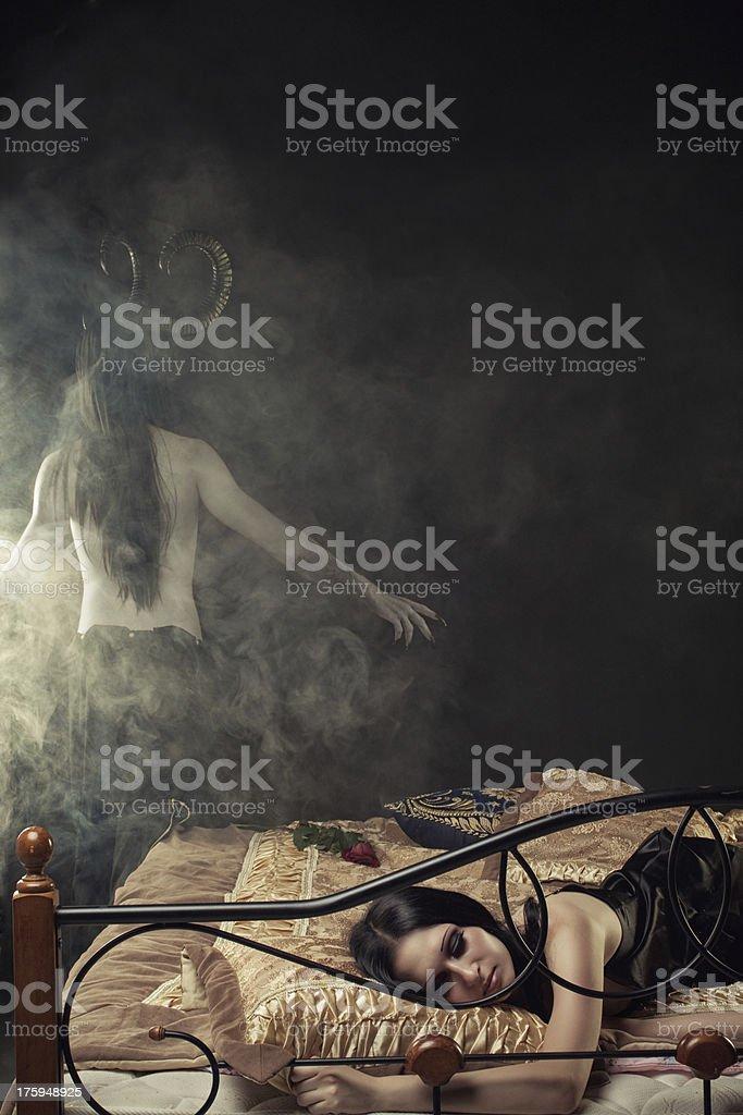 Devil from dreams stock photo