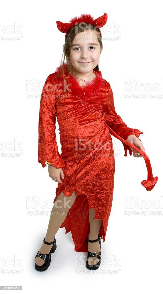 Devil girl royalty-free stock photo