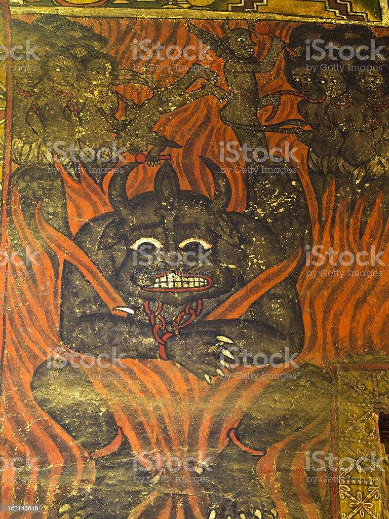 Devil in Chains stock photo