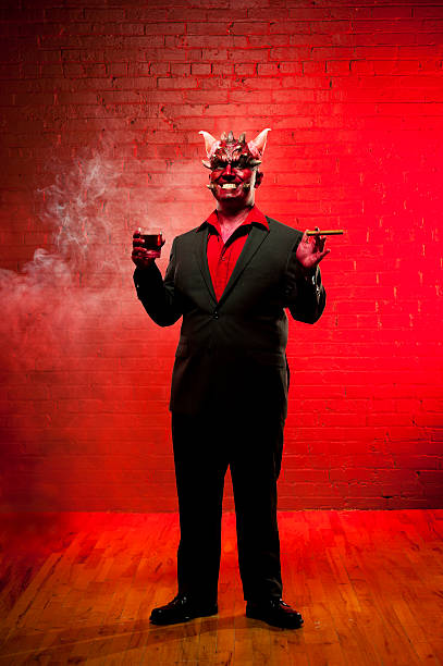 Devil partying stock photo