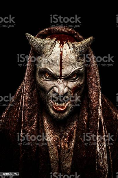 Portrait of a Devil. For halloween