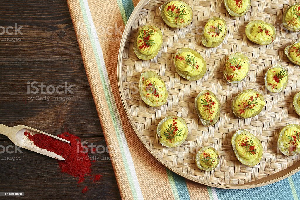Deviled Potatoes royalty-free stock photo