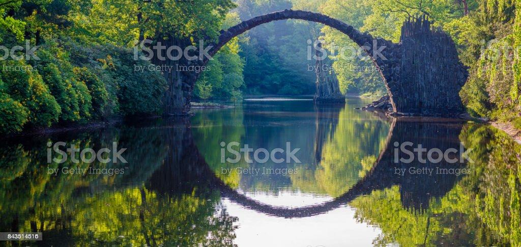devilish bridge in Kromlau stock photo