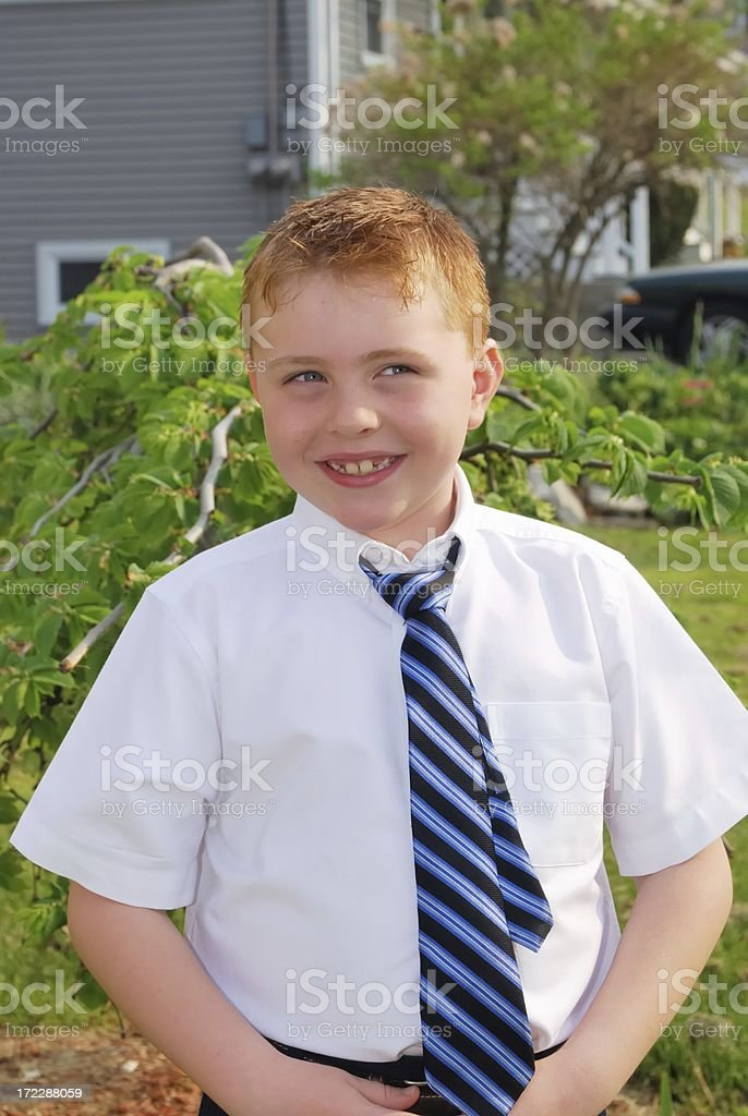 devilish smile stock photo