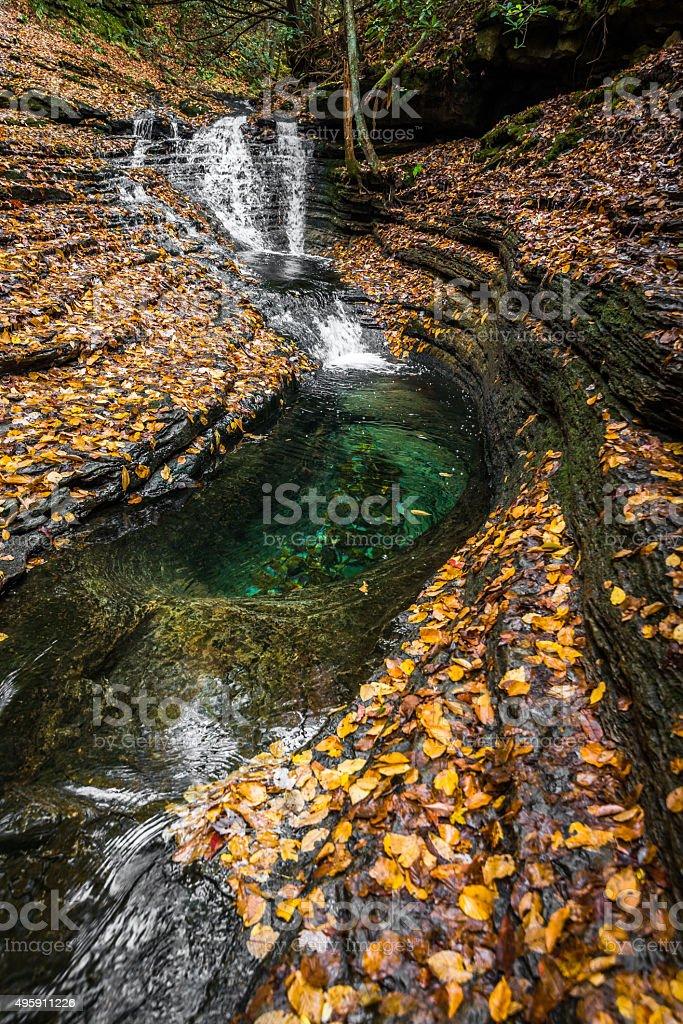 Devils Bathtub Cascade stock photo