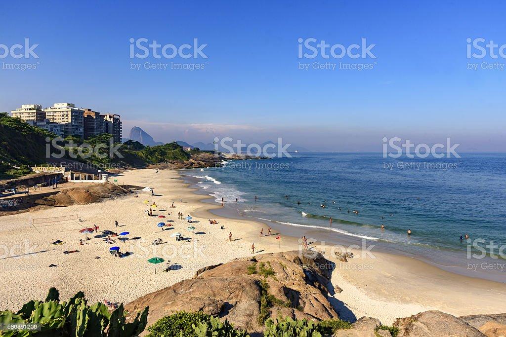Devil's beach Rio de Janeiro stock photo