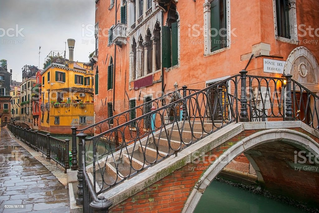 Devils Bridge (pontе del Diavolo) in Venice foto royalty-free