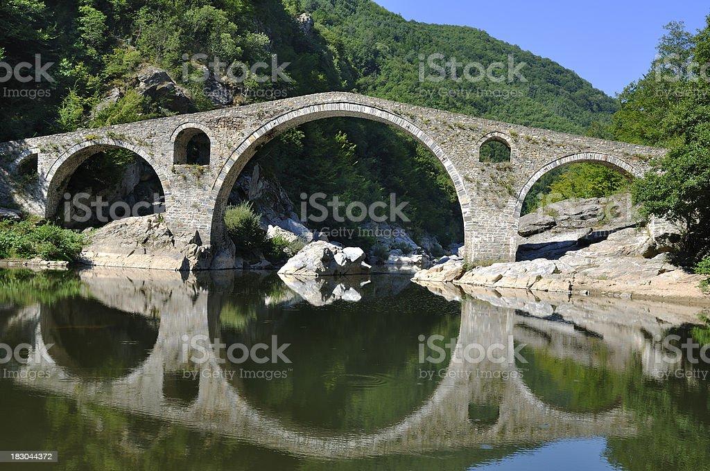 Devil's Bridge near Ardino, Bulgaria stock photo